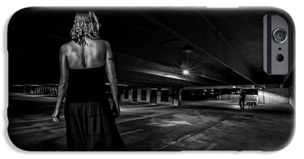 Film Noir iPhone Cases - Walking The Dog iPhone Case by Bob Orsillo