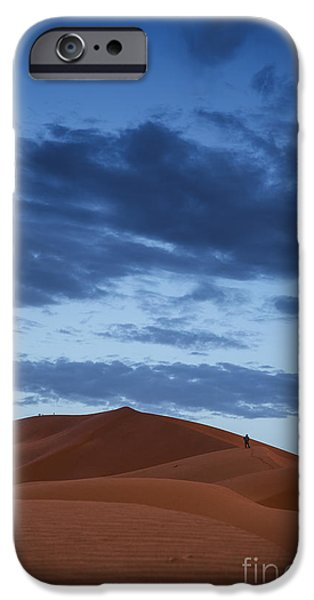 Nature Scene iPhone Cases - Walking the dunes iPhone Case by Yuri Santin