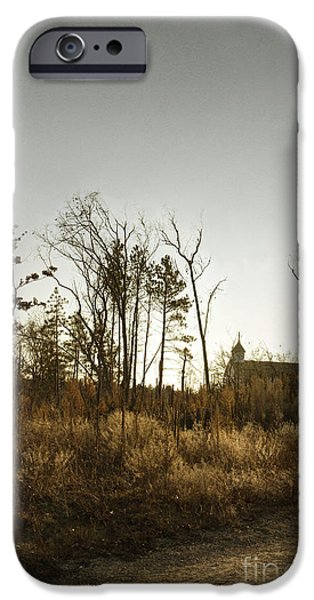Autumn iPhone Cases - Walking to Church iPhone Case by Margie Hurwich