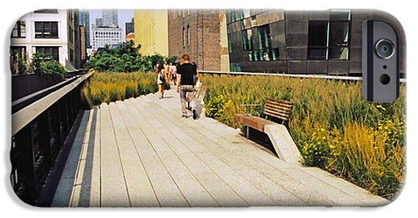 Abandoned Buildings iPhone Cases - Walkway In A Linear Park, High Line iPhone Case by Panoramic Images