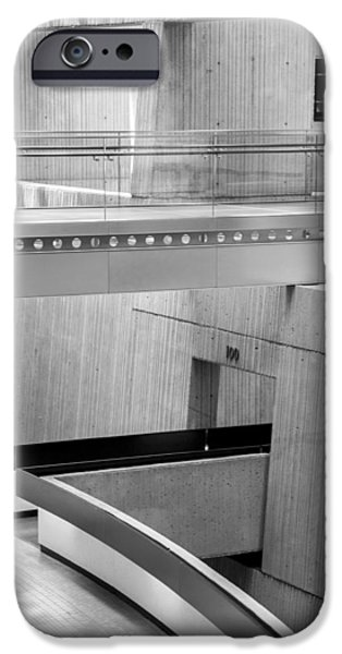 Renaissance Center iPhone Cases - Walkway in the Renaissance Center iPhone Case by John McGraw