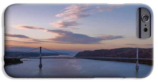 Best Sellers -  - Hudson River iPhone Cases - Walkway Over The Hudson Dawn iPhone Case by Joan Carroll