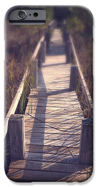 Landscape Framed Prints iPhone Cases - Walkway Through The Reeds Appalachian trail iPhone Case by Edward Fielding