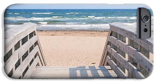 Beach Landscape iPhone Cases - Walkway to Atlantic beach iPhone Case by Elena Elisseeva