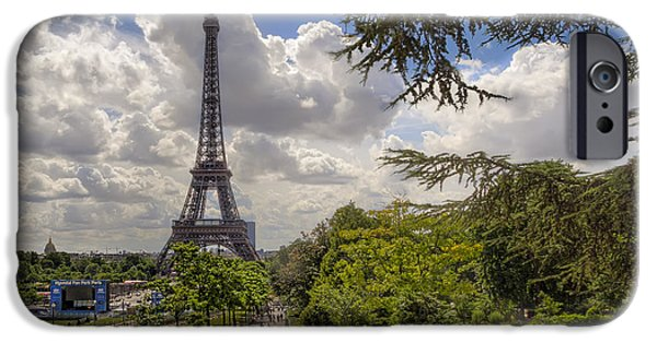 Paris iPhone Cases - Walkway to the Eiffel Tower iPhone Case by Tim Stanley