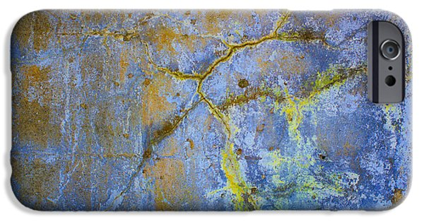 Abstract Digital Photographs iPhone Cases - Wall Abstraction I iPhone Case by Dave Gordon