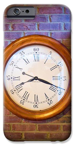 Wall Clock 1 iPhone Case by Douglas Barnett