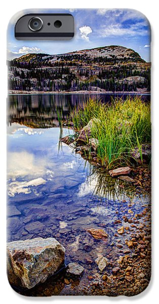 Utah iPhone Cases - Wall Lake iPhone Case by Chad Dutson