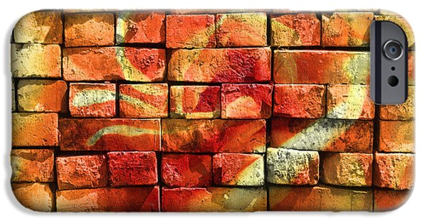 Buildings Mixed Media iPhone Cases - Wall Of Graffiti Abstract iPhone Case by Georgiana Romanovna