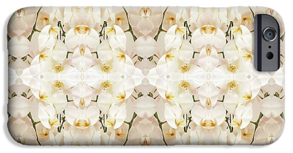 Innocence iPhone Cases - Wall of Orchids II Panorama iPhone Case by Paul Ashby