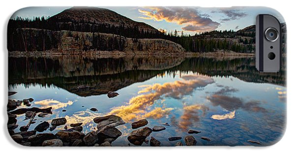 Rockies iPhone Cases - Wall Reflection iPhone Case by Chad Dutson