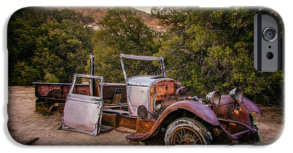 Old Truck iPhone Cases - Wall Street Mine Pickup iPhone Case by Peter Tellone