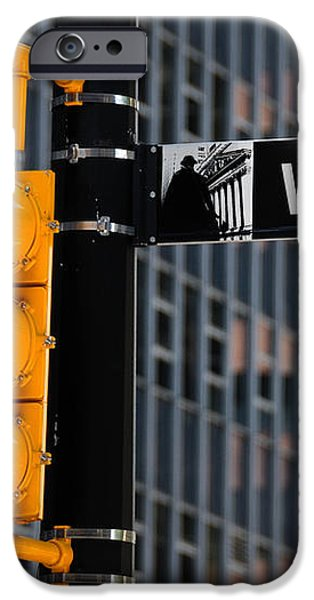 Wall Street Traffic Light New York iPhone Case by Amy Cicconi