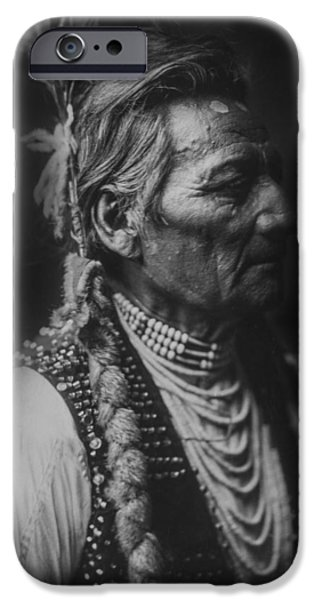 Portrait Of Old Man iPhone Cases - Walla Walla Indian circa 1905 iPhone Case by Aged Pixel