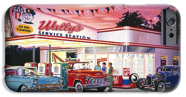 Tow Truck iPhone Cases - Wallys Service Station iPhone Case by Bruce Kaiser