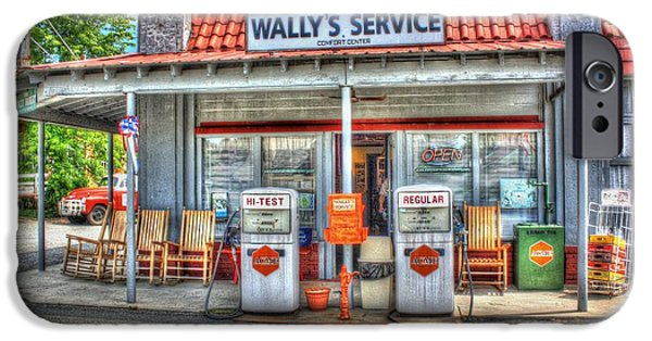 Andy Griffith Show iPhone Cases - Wallys Service Station iPhone Case by Dan Stone