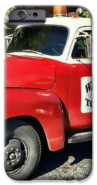Wally's Towing iPhone Case by Victor Montgomery