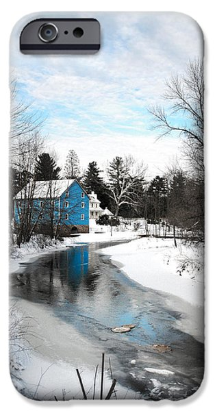 Grist Mill Mixed Media iPhone Cases - Walnford Mill iPhone Case by Ericka O