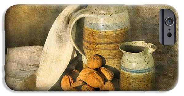 Still Life With Pitcher iPhone Cases - Walnut Grove iPhone Case by Diana Angstadt