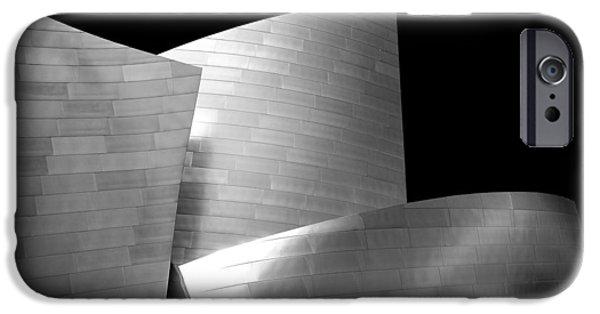 Black And White Photographs iPhone Cases - Walt Disney Concert Hall 1 iPhone Case by Az Jackson