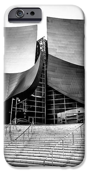 Walt Disney Concert Hall in Black and White iPhone Case by Paul Velgos