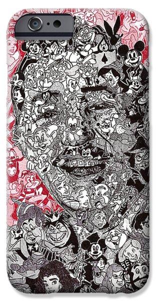Alice In Wonderland iPhone Cases - Walt Disney Memories iPhone Case by Serafin Ureno