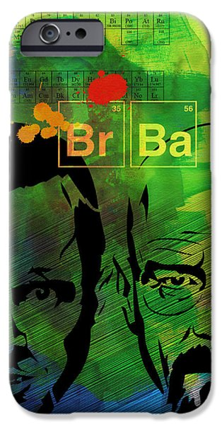 Film iPhone Cases - Walter and Jesse Watercolor iPhone Case by Naxart Studio