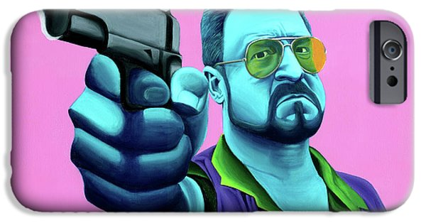 Film Paintings iPhone Cases - Walter  iPhone Case by Ellen Patton