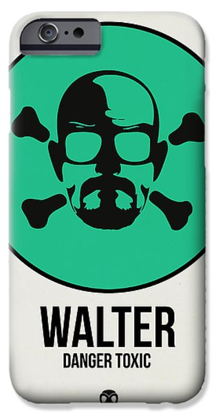Film Mixed Media iPhone Cases - Walter Poster 1 iPhone Case by Naxart Studio