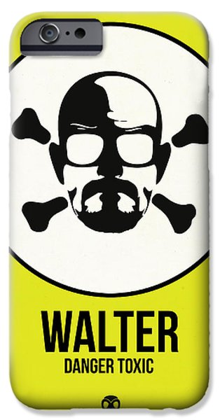 Film Mixed Media iPhone Cases - Walter Poster 2 iPhone Case by Naxart Studio