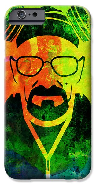 Tv Show iPhone Cases - Walter Watercolor iPhone Case by Naxart Studio