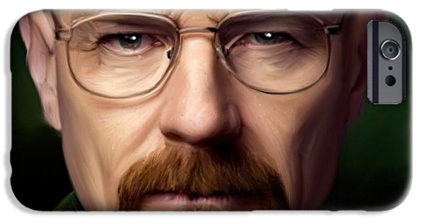 Vince iPhone Cases - Walter White - Color iPhone Case by Paul Tagliamonte