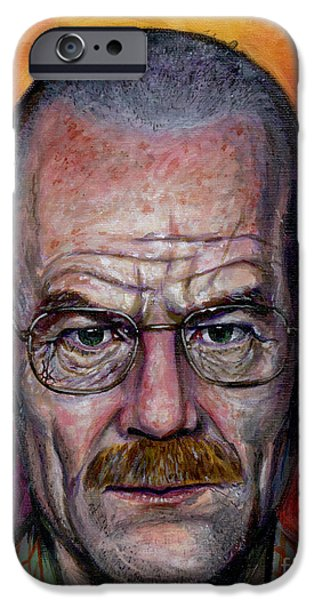 Walter White iPhone Case by Mark Tavares