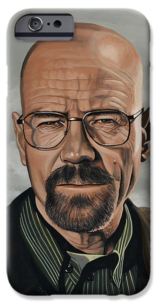 Walter White iPhone Case by Paul Meijering