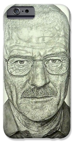 Hyperrealistic iPhone Cases - Walter White iPhone Case by Rebekah Williamson