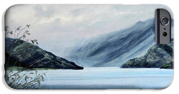 Rain Pastels iPhone Cases - Wanaka Lake iPhone Case by Stanza Widen