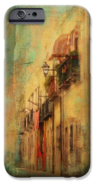 Balcony iPhone Cases - Wandering the Streets of Italy iPhone Case by Carla Parris