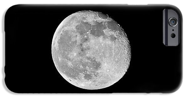 Moonscape iPhone Cases - Waning Flower Moon iPhone Case by Al Powell Photography USA