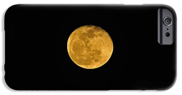 Man In The Moon iPhone Cases - Waning Passover Moon iPhone Case by Al Powell Photography USA