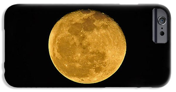 Moonscape iPhone Cases - Waning Passover Moon iPhone Case by Al Powell Photography USA