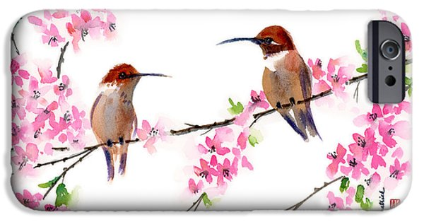 Hummingbird iPhone Cases - Want to be Friends? iPhone Case by Amy Kirkpatrick