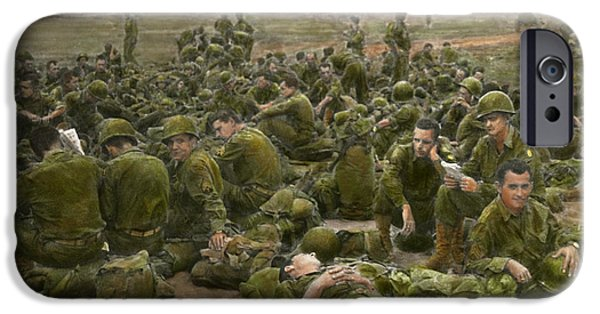 Grunts iPhone Cases - War - A thousand stories iPhone Case by Mike Savad