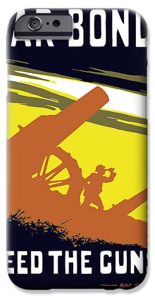 World War One iPhone Cases - War Bonds Feed The Guns iPhone Case by War Is Hell Store