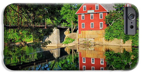Grist Mill iPhone Cases - War Eagle Mill and Bridge - Arkansas iPhone Case by Gregory Ballos