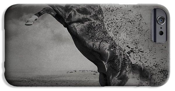Arabian iPhone Cases - War Horse iPhone Case by Erik Brede