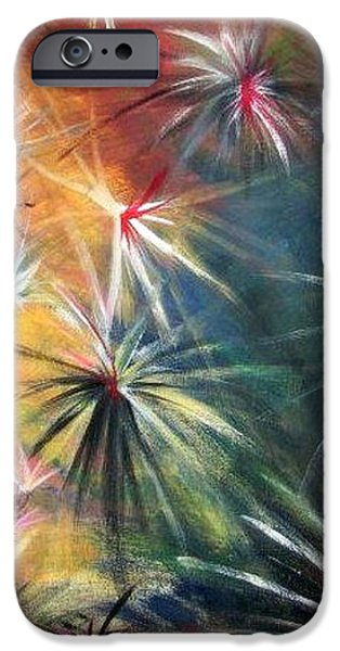 Abstracts Tapestries - Textiles iPhone Cases - War of the Seasons iPhone Case by Susanne Little