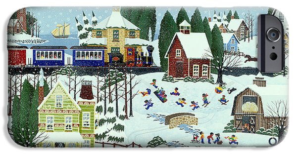 Snow Scene iPhone Cases - War of the Whirls iPhone Case by Merry  Kohn Buvia
