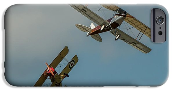 Ww1 iPhone Cases - Warbirds iPhone Case by Rob Heath