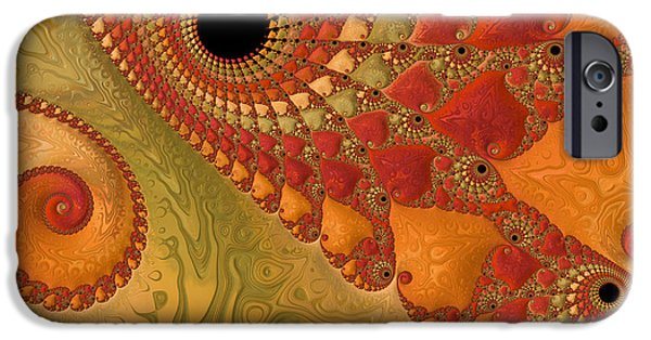 Asymmetrical iPhone Cases - Warm And Earthy iPhone Case by Heidi Smith