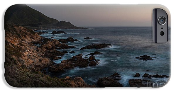 Big Sur Beach iPhone Cases - Warm California Evening iPhone Case by Mike Reid